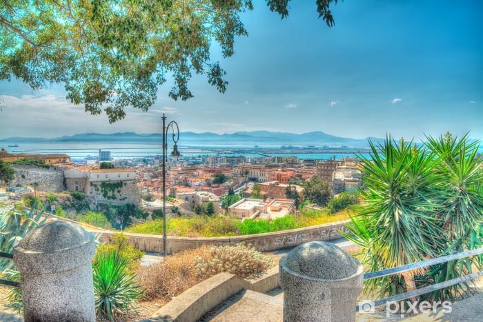 Naklejka Pixerstick Kolorowe Cagliari - Europa