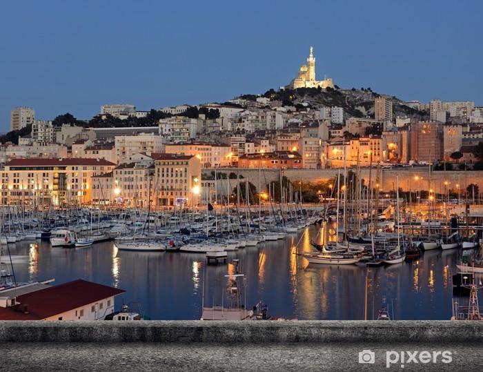 Pixerstick Sticker Marseille stadsgezicht - Overige