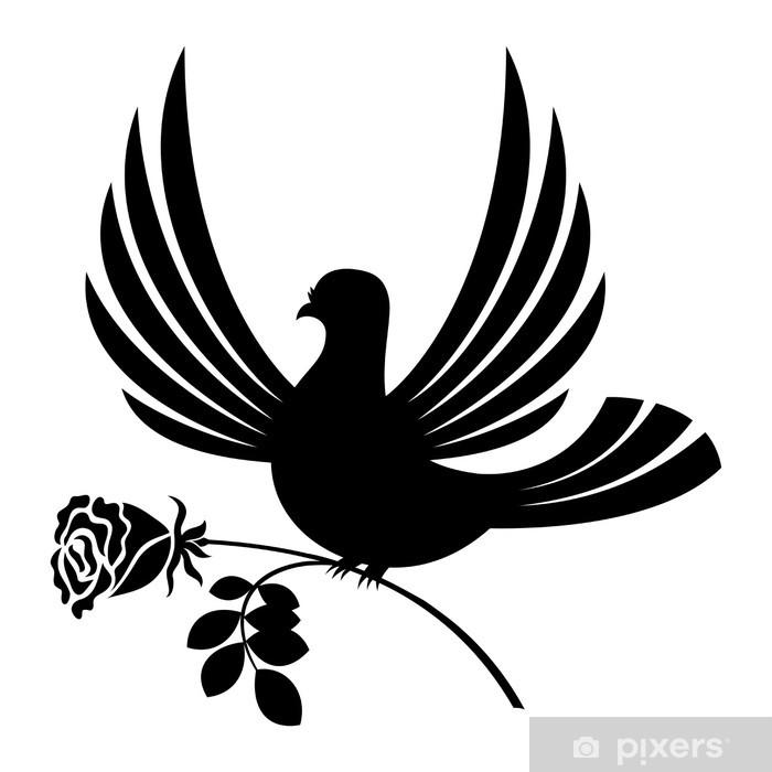Sticker Pixerstick Pigeon - Bonheur