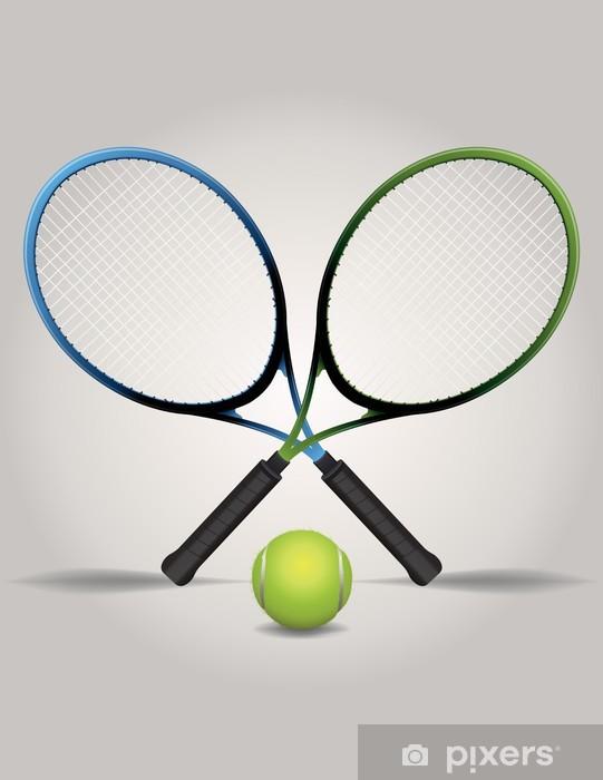 Fototapet Tennisracketar och boll Illustration • Pixers® - Vi lever ... ddc488becd965