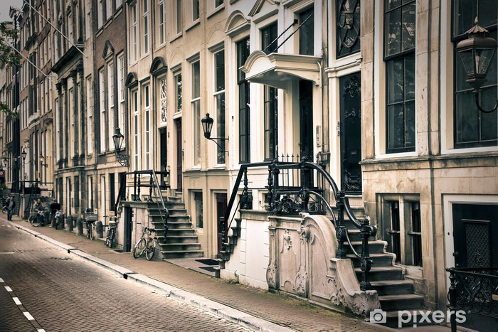 perspective of the old amsterdam Pixerstick Sticker - Themes