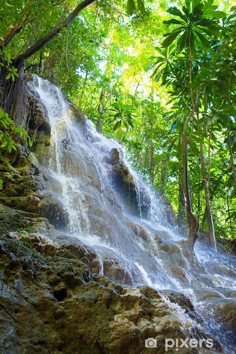 Fototapeta winylowa Jamajka. Małe wodospady w dżungli - Tematy