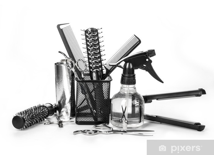 Fototapeta winylowa Narzędzia Fryzjer - Przeznaczenia