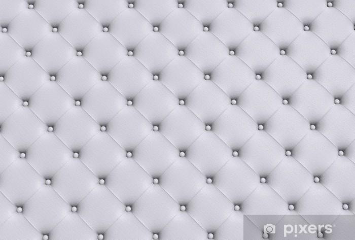 Pixerstick Sticker De witte textuur van de huid gewatteerde sofa - Mode