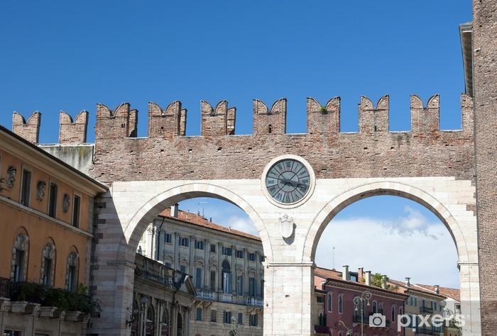 Vinyl-Fototapete Portoni della Bra, mittelalterliche Tor, die zur Piazza Bra - Urlaub