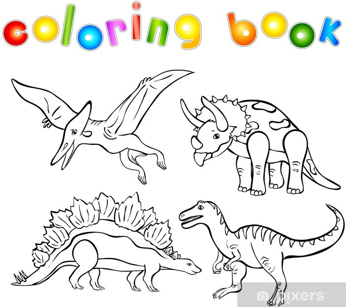 Dinozorlarin Boyama Kitabi Poster Pixers Haydi Dunyanizi