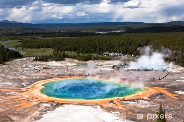 USA - Yellowstone NP, prismatic pool Pixerstick Sticker - Themes