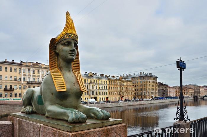 Санкт-Петербург, Фонтанка, Сфинкс на Египетском мосту Vinyl Wall Mural - Europe
