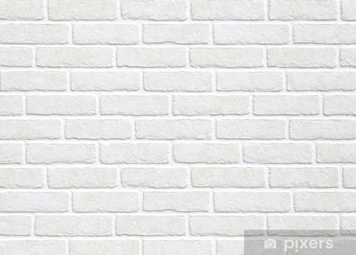 Vinyl Fotobehang Witte bakstenen muur achtergrond. - Thema's