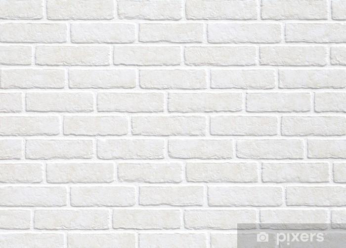 Sticker Pixerstick Blanc fond mur de briques - Thèmes