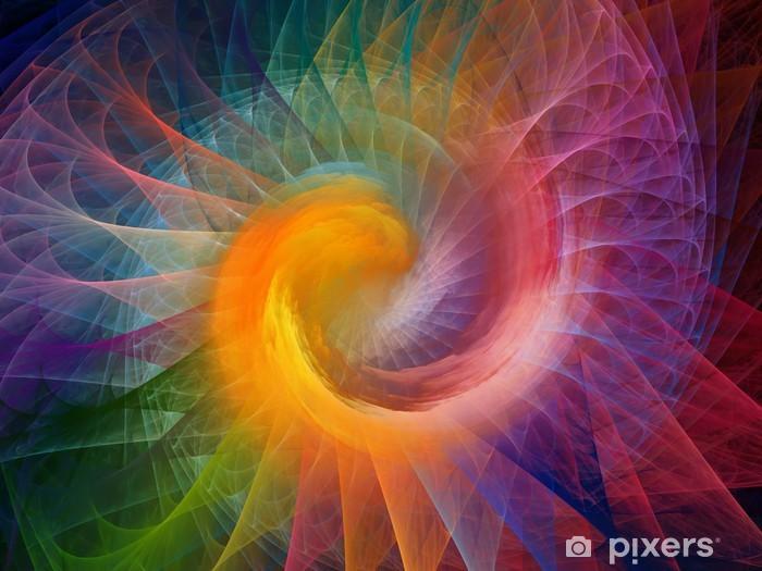 Adesivo Pixerstick Spirale di sfondo - Meraviglie della Natura