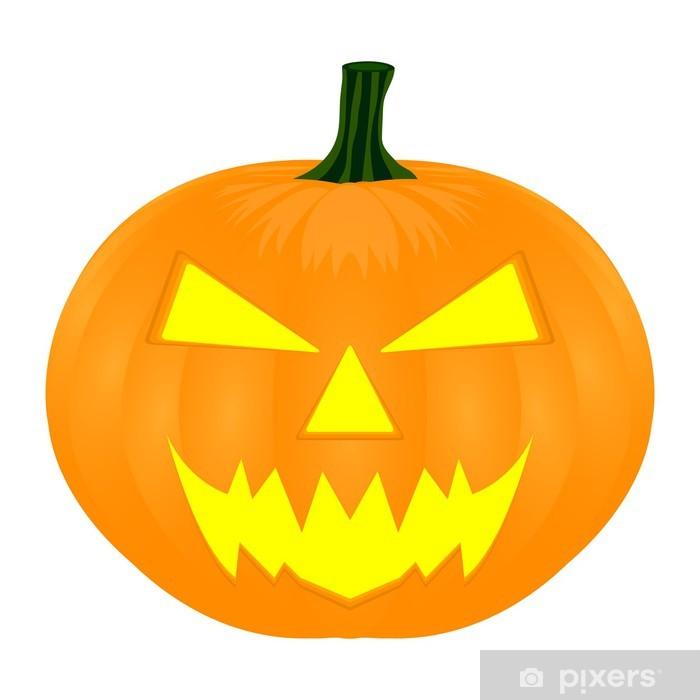 Sticker Pixerstick Citrouille d'Halloween isolé sur blanc - Fêtes internationales