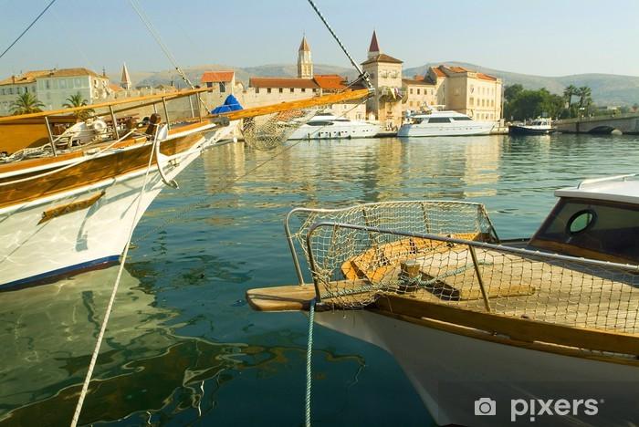Nálepka Pixerstick Jachty v přístavu Trogir -
