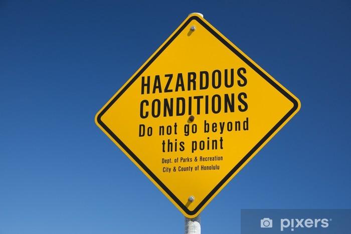 Papier peint vinyle Pas de natation signe de danger à Hawaii - Eau