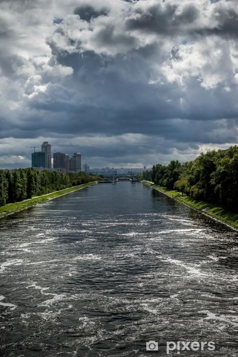 Vinyl Fotobehang Uitzicht op het Kanaal van Moskou - Aziatische steden