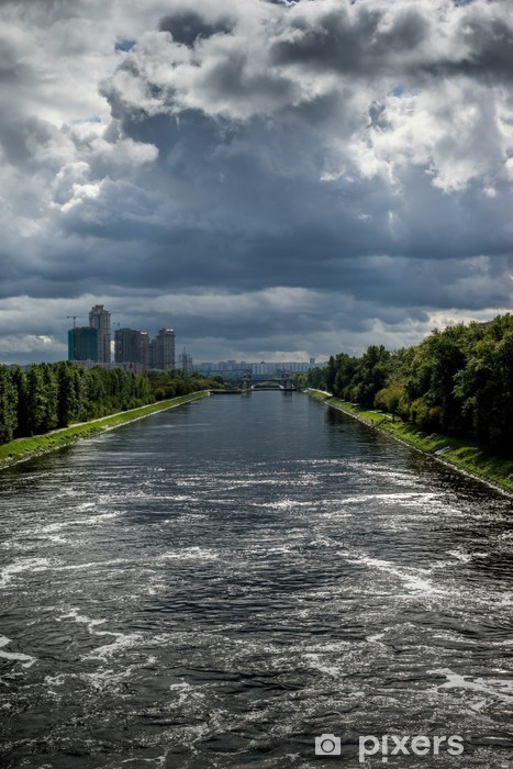 View of the Moscow Canal Vinyl Wall Mural - Asian Cities
