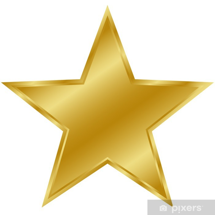 Stern gold Pixerstick Sticker - International Celebrations