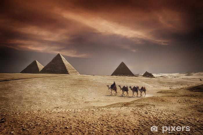Pyramids of Egypt Vinyl Wall Mural - Africa