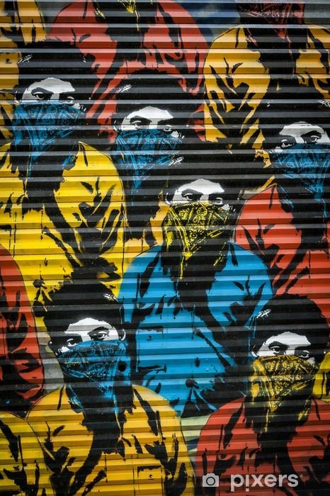 Naklejka Pixerstick Graffiti gangsterzy - Sztuka i twórczość