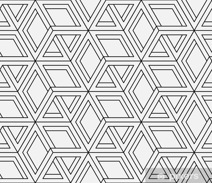 Sticker Pixerstick Seamless motif géométrique dans la conception d'art op. Vector art. - Thèmes