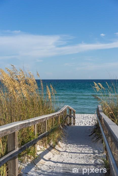 Vinilo Pixerstick Camino a la playa en el paraíso - Temas