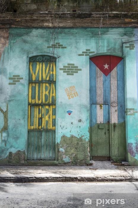 Fototapeta samoprzylepna Żyją Wolnej Kuby - Ameryka