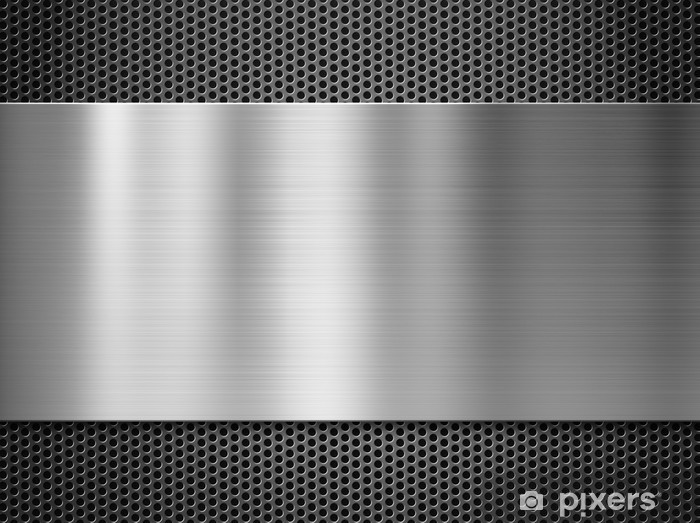 Steel Metal Plate Over Grate Background Wall Mural