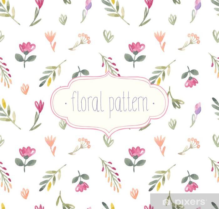 Poster Vecteur Aquarelle de seamless floral pattern. - Arrière plans