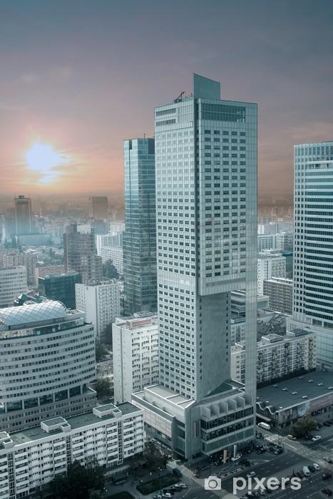 Vinilo Pixerstick Panorama de Varsovia desde el Palacio de Cultura y Ciencia. - Temas