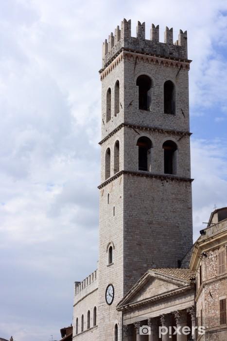 Naklejka Pixerstick Palazzo dei Priori w Asyżu - Europa
