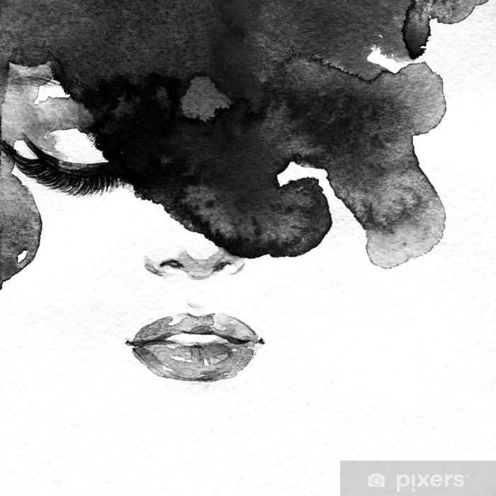 Fototapeta winylowa Portret kobiety .abstract tle akwarela .fashion - Style