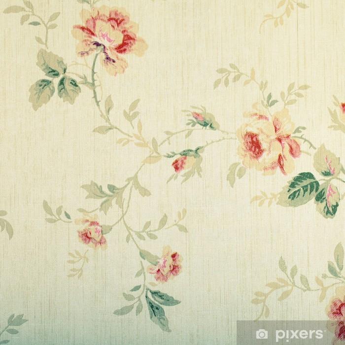 Fototapeta winylowa Archiwalne wiktoriański tapety z wzorem kwiatowym - Tekstury