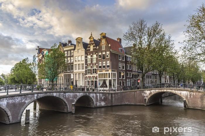 Fototapeta winylowa Keizersgracht kanał w Amsterdamie, Holandia. - Miasta europejskie