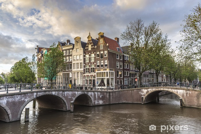 Keizersgracht canal in Amsterdam, Netherlands. Self-Adhesive Wall Mural - European Cities