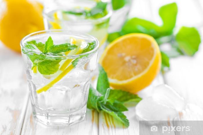 Papier peint vinyle Boivent de citron - Eau minérale et sodas