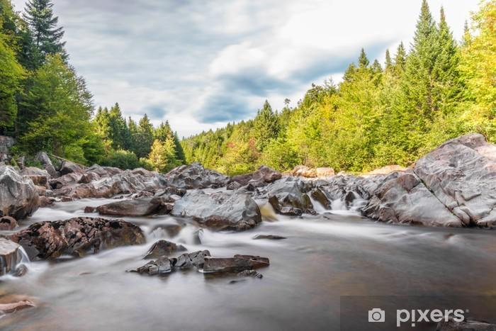 Vinyl Fotobehang Brede rivier langs Moose Horn Trail - Water