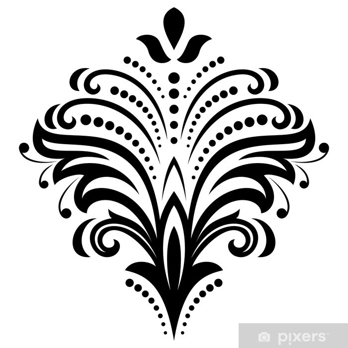 Damask Vector Orient Pattern Wall Mural Pixers 12