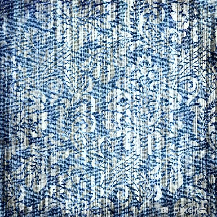 Naklejka Pixerstick Rocznika denim tekstury z klasycznych wzorców - Tematy