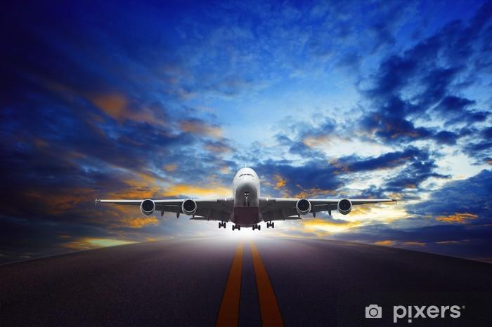 Sticker Pixerstick Jet avion décoller de pistes d'aéroports urbains utilisent pour tran - Thèmes