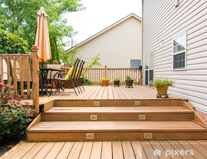 Fotobehang terras en de tuin van de familie thuis u2022 pixers® we