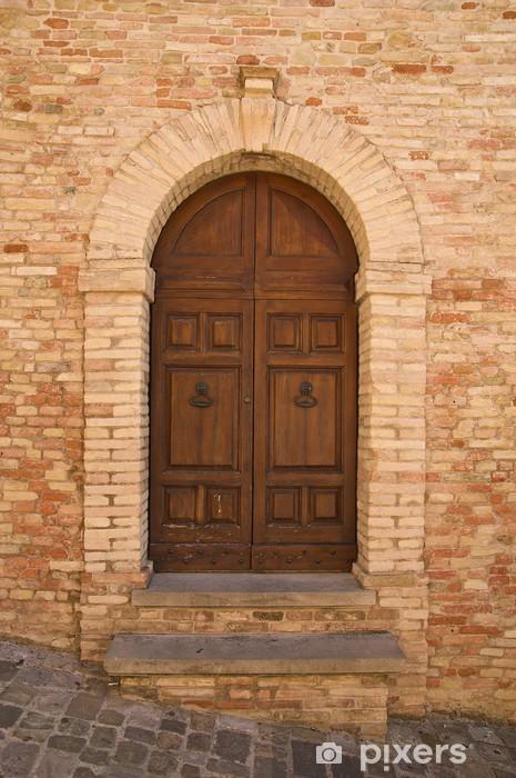 Fotomural Estándar Antigua puerta de madera en el Castillo de Gradara - Industria pesada