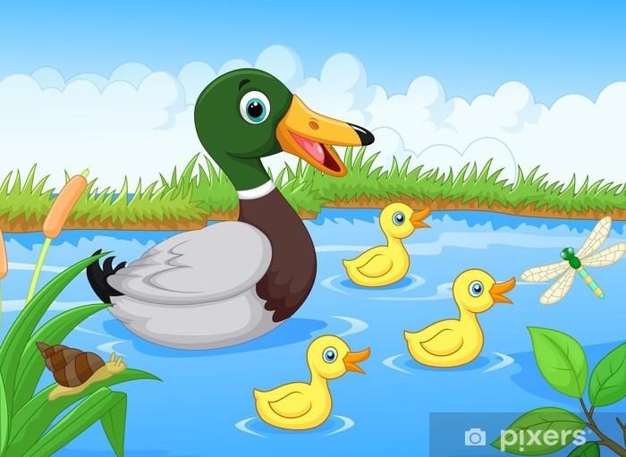 Fototapeta winylowa Duck cartoon - Dla przedszkolaka