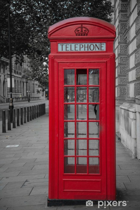phone booth in london Vinyl Wall Mural - Themes