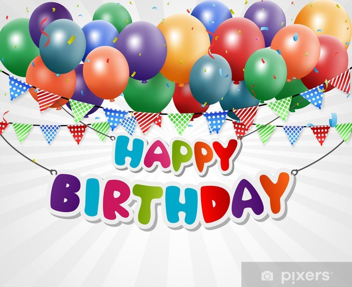 Happy Birthday Greeting Card Background Wall Mural Pixers We