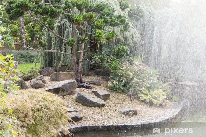 Papier peint Jardin japonais et fontaine
