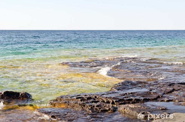 Naklejka Pixerstick Zielony i niebieski wody - Woda