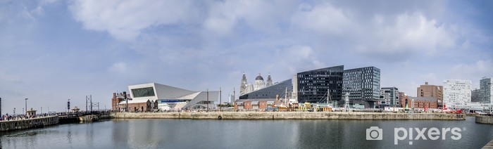 Liverpool Skyline Vinyl Wall Mural - Europe
