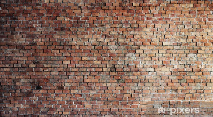Empty Red Brick Wall Background Vinyl Wall Mural - Themes