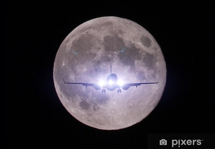 Fototapet av Vinyl Moon Landing 月 着陸 飛行 機 - Teman