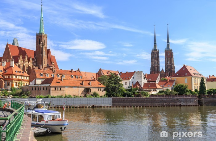 Fotomural Estándar Wroclaw, Ostrow Tumski (Isla de la catedral), Polonia - Temas